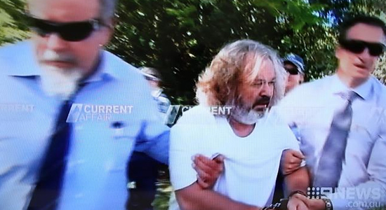 Peter Foster arrested (Photo: The Australian)