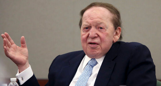 Sheldon Adelson againsta online gambling