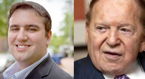 Erik Telford came out strongly against Sheldon Adelson's political influence