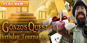 Gonzo's Quest birthday tournament