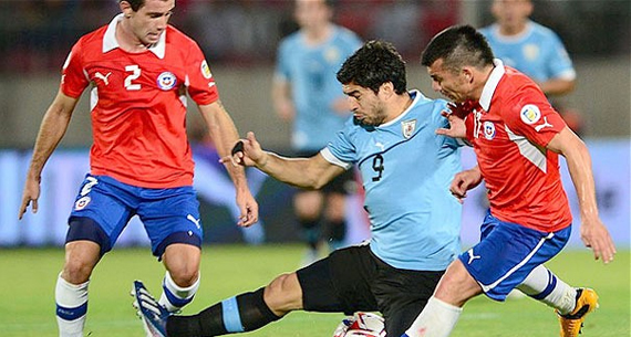 Uruguay may constitute tough opposition for Chile. (Photo: The Telegraph)