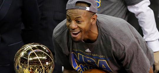 Andre Iguodala is the MVP of the finals. (Photo: NY Post)