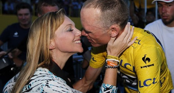 Froome dedicates Tour de France victory to wife