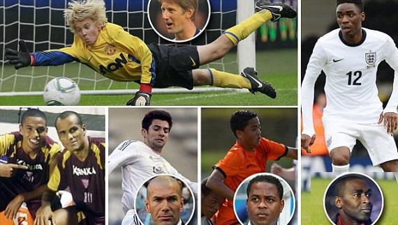 Rivaldo and son, van der Sar, Zidane, Kluivert