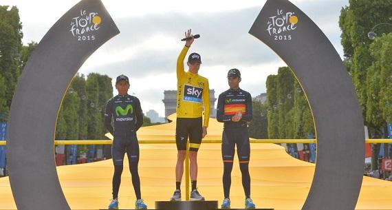 Tour de France 2015 podium