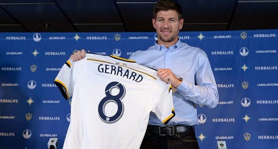 Steven Gerrard LA Galaxy press conference