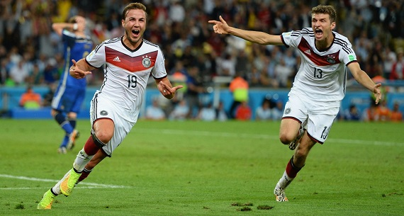 Gotze for Chilean player Arturo Vidal