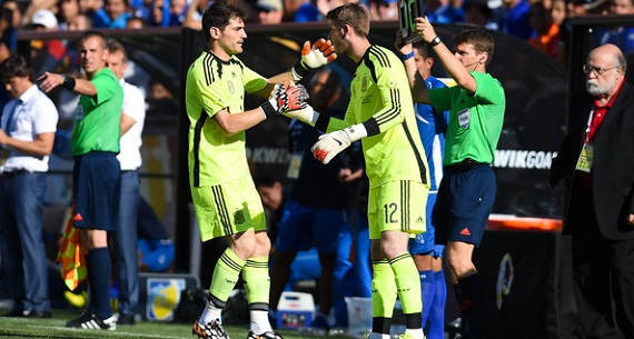 Iker Casillas David de Gea substitution