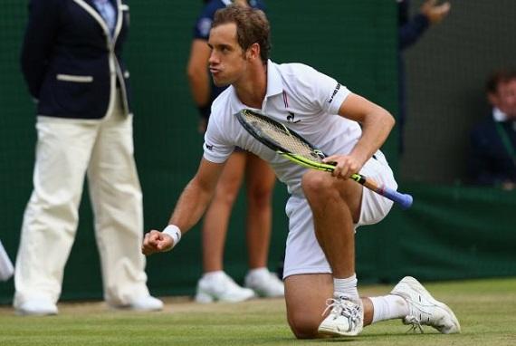 Wimbledon serve and volley richard gastquet victory