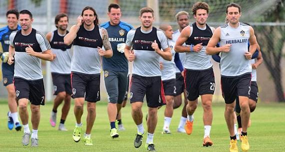 LA Galaxy soccer practice