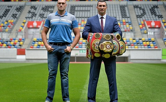 Tyson Fury v Klitschko the belts
