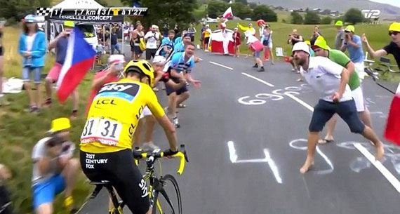 chris froom spit tour de france 2015