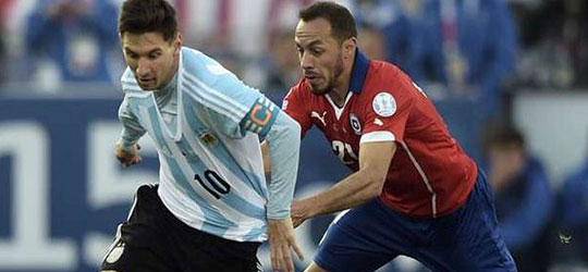 messi argentina vs chile 2015 copa america