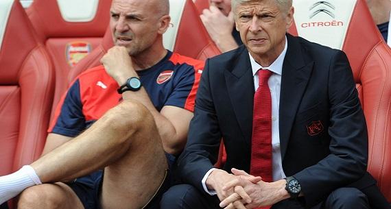 Arsene Wenger Arsenal v West Ham