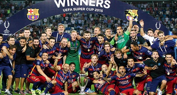Barcelona Uefa Super Cup Winners 2015