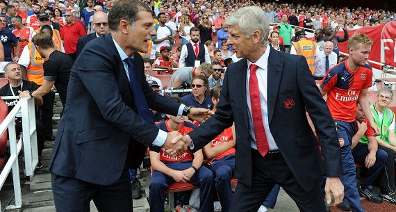 Slaven Bilic Arsene Wenger Arsenal v West Ham