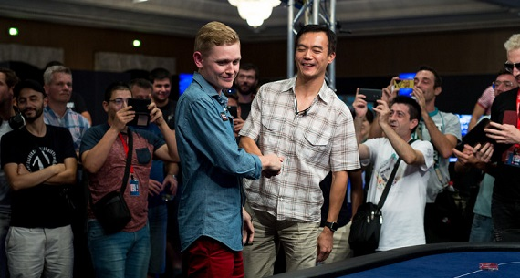 EPT Barcelona winner John Juanda and Steve Warburton