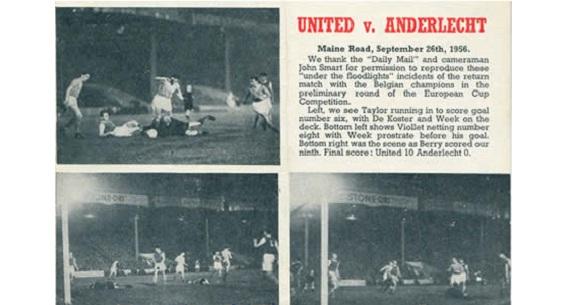 Man United v Club Brugge history