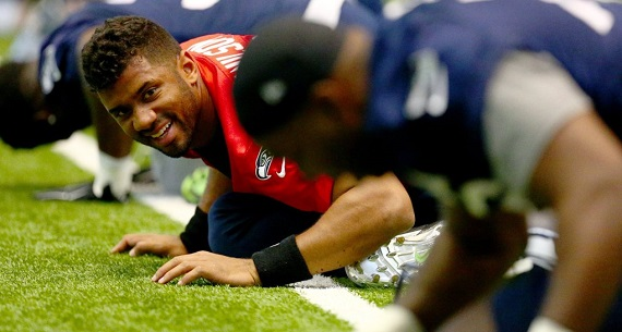 reaction of teammates to Russell Wilson contract