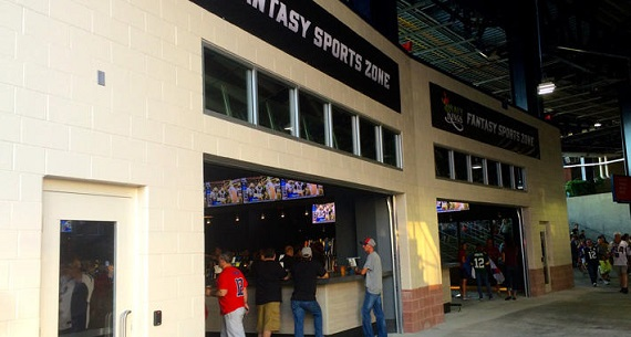 DraftKings fantasy sports gambling shop in Foxboro Patriots stadium