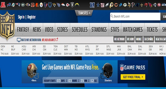 NFL.com fantasy sports gambling site