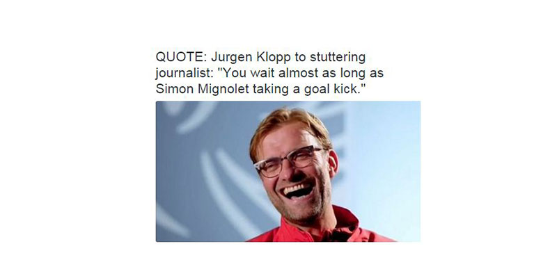 klopp on mignolet error