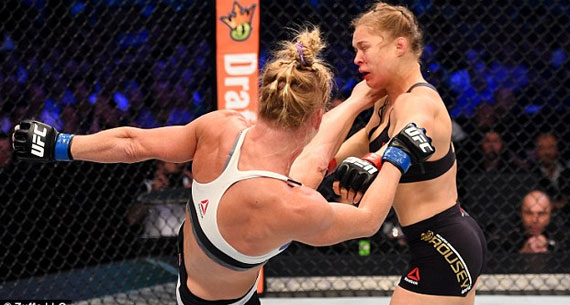 rhonda rousey knockout holm game