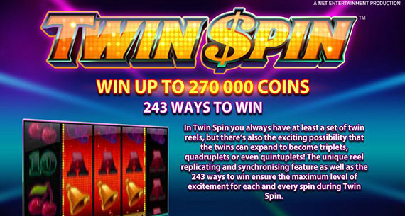 twin spins slot winner