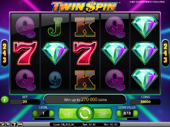 Twin Spin Slot pays out big online slot winnings
